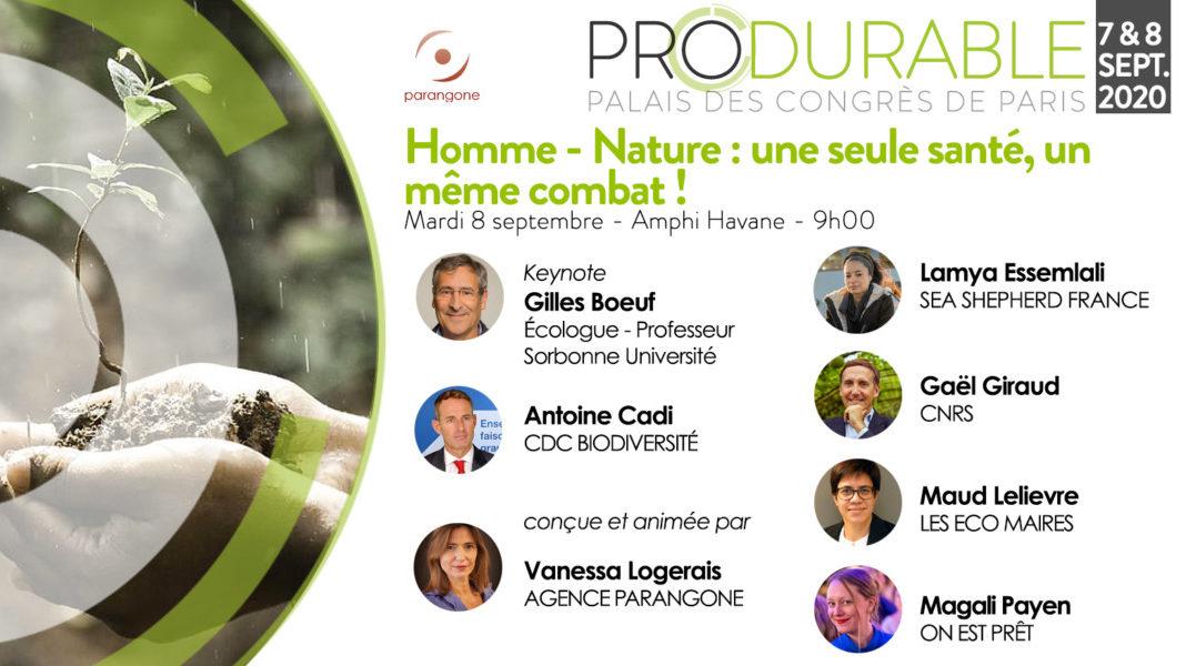 [Produrable 2020] Homme-Nature, une seule santé, un même combat