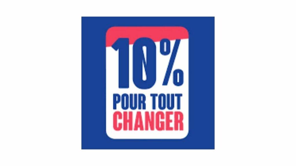 Logo 10% pour tout changer