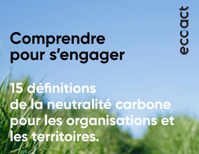 ECOACT : création du Lexique de la neutralité carbone